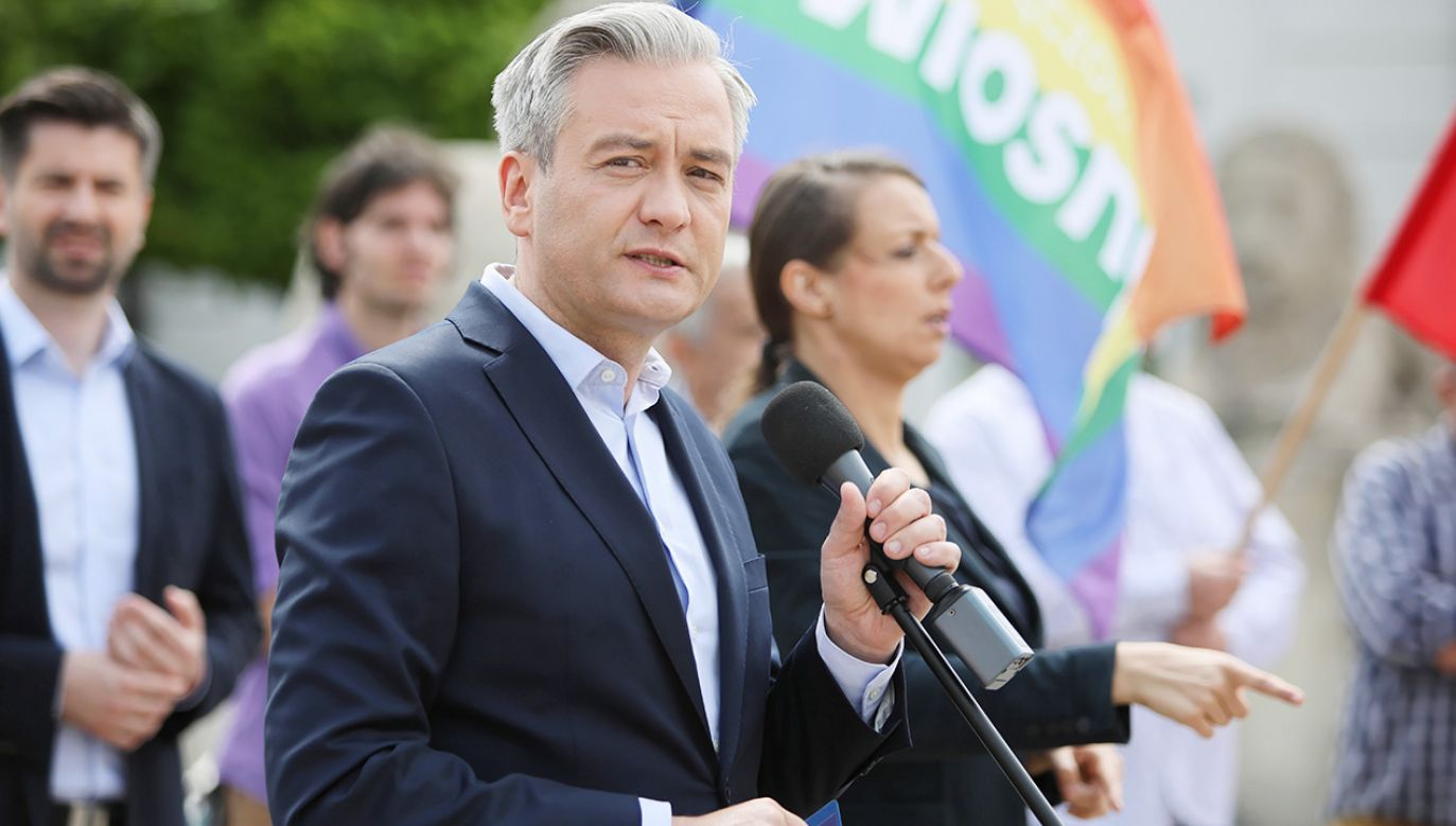Lider partii Wiosna i europoseł Robert Biedroń (fot. PAP/Leszek Szymański)