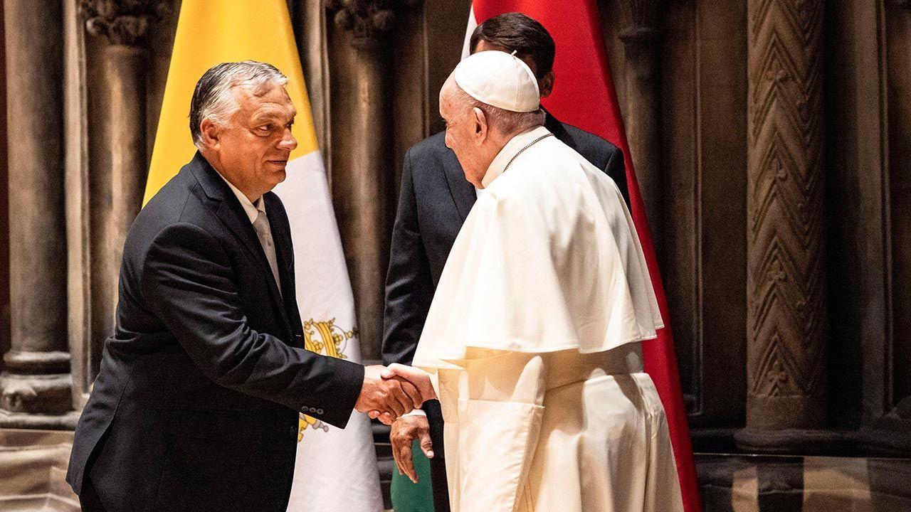 Viktor Orban zaznaczył, że rozmowa z papieżem umocniła go  (fot. PAP/EPA/HUNGARIAN PRIME MINISTER PRESS OFFICE/ZOLTAN FISCHER)