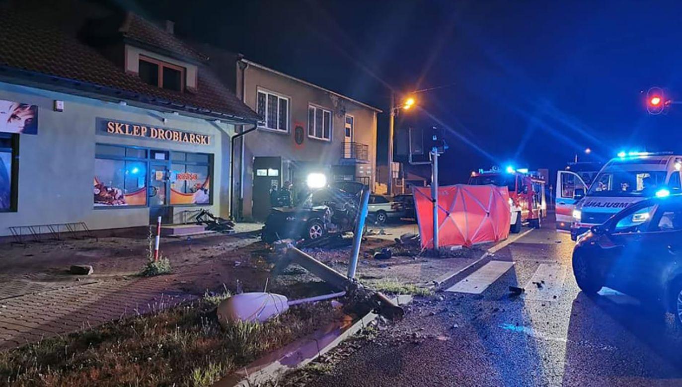 Do zdarzenia doszło ok. godz. 2 w nocy (fot. OSP Okup Wielki)