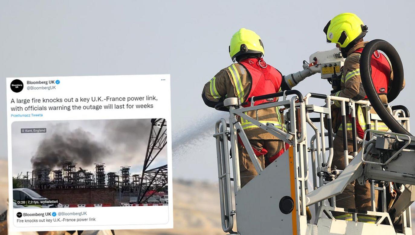 Na miejscu pożaru pracowało kilka zastępów straży (fot. James Chance/Getty Images)
