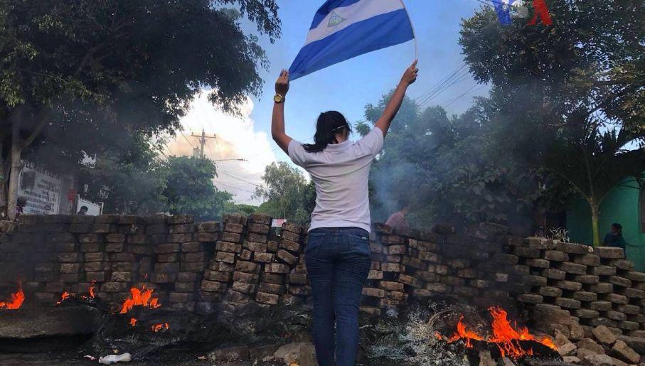 W 2018 roku wybuchły protesty przeciwko dyktaturze Ortegi (fot. Voice of America/public domain)