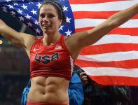Amerykanka Jennifer Suhr została mistrzynią olimpijską w skoku o tyczce (fot. PAP/EPA)