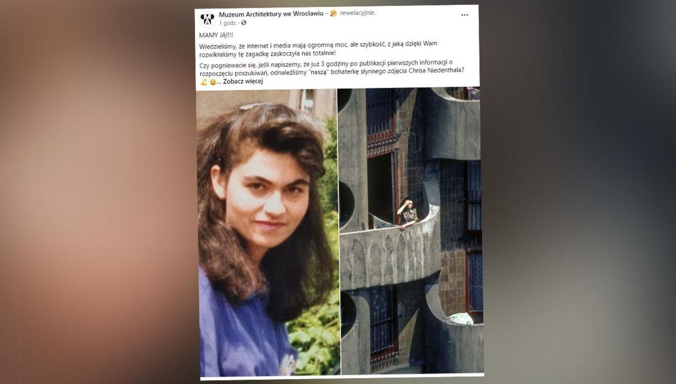 Kobieta została odnaleziona już po trzech godzinach (fot. Facebook/Muzeum Architektury we Wrocławiu)