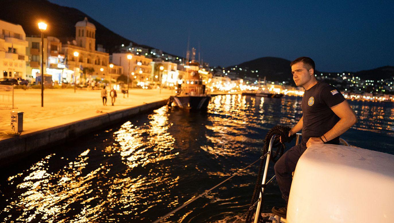 Jednym z priorytetów gabinetu Kiriakosa Mitsotakisa jest wzmocnienie ochrony granic, zwłaszcza na morzu (fot. Lexie Harrison-Cripps/SOPA Images/LightRocket via Getty Images)