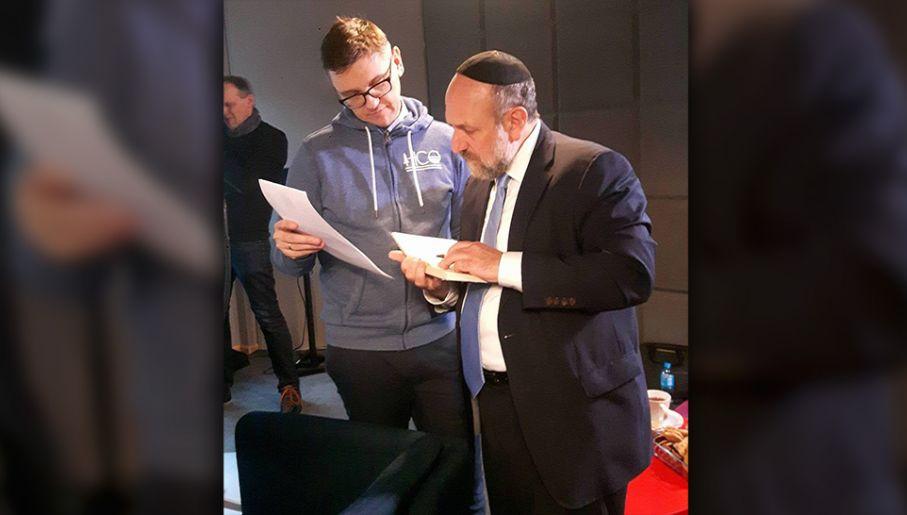 Rabin Michael Schudrich przeczytał fragment po hebrajsku (fot. mat. pras.)