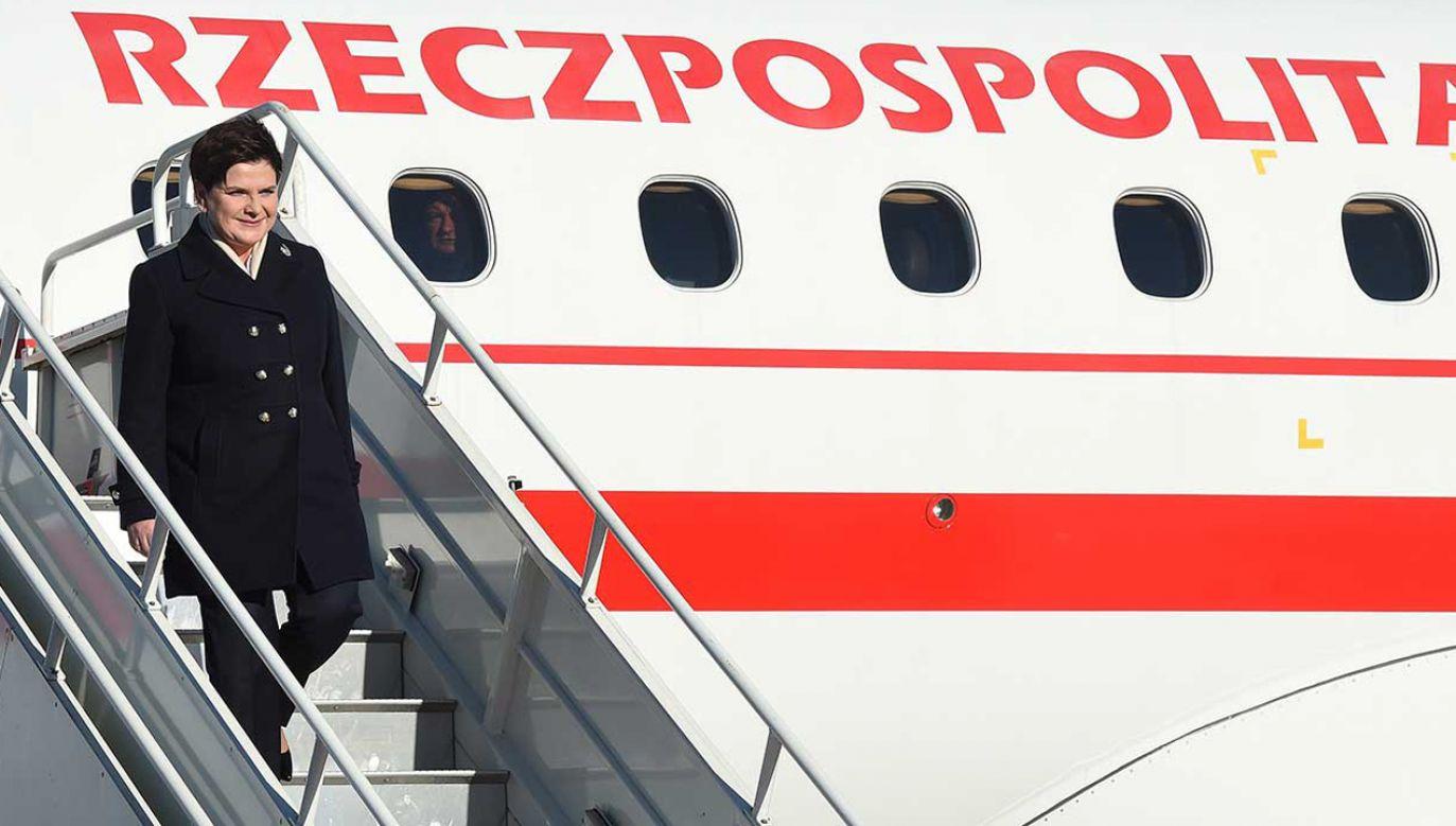 Wykaz  lotów premier Beaty Szydło zawiera 164 pozycje (fot. arch. PAP/Radek Pietruszka)
