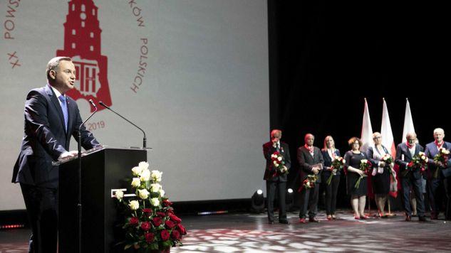 Prezydent Andrzej Duda podczas XX Powszechnego Zjazdu Historyków Polskich w Lublinie (fot. PAP/Jacek Szydłowski)