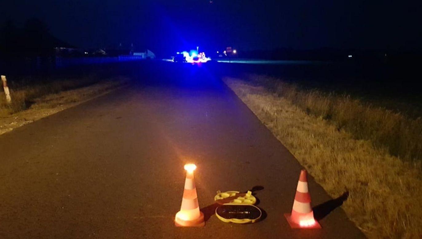 Na miejscu pracowały służby ratunkowe (fot. Facebook/OSP Mnichowo)