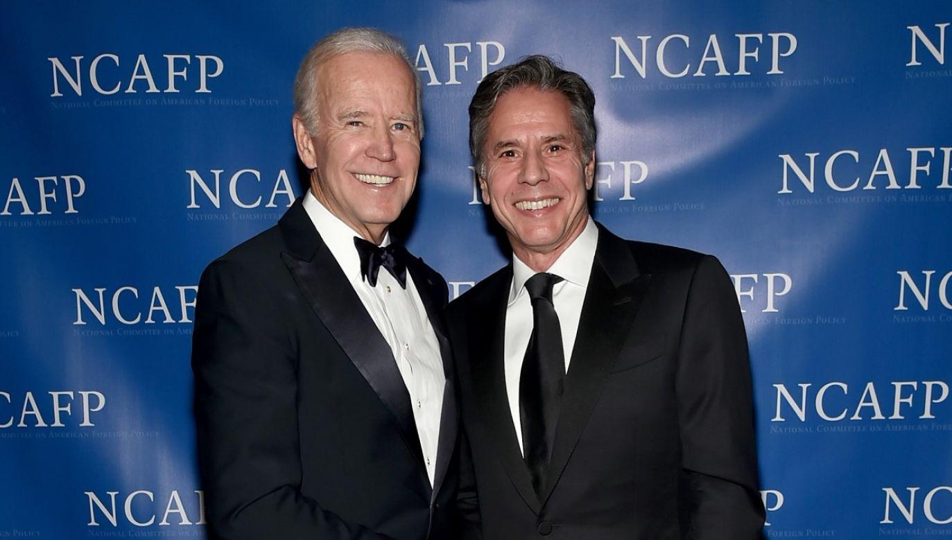 Prezydent-elekt Joe Biden (z lewej) i Antony Blinken (z prawej) (fot. Mike Coppola/Getty Images for National Committee on American Foreign Policy)