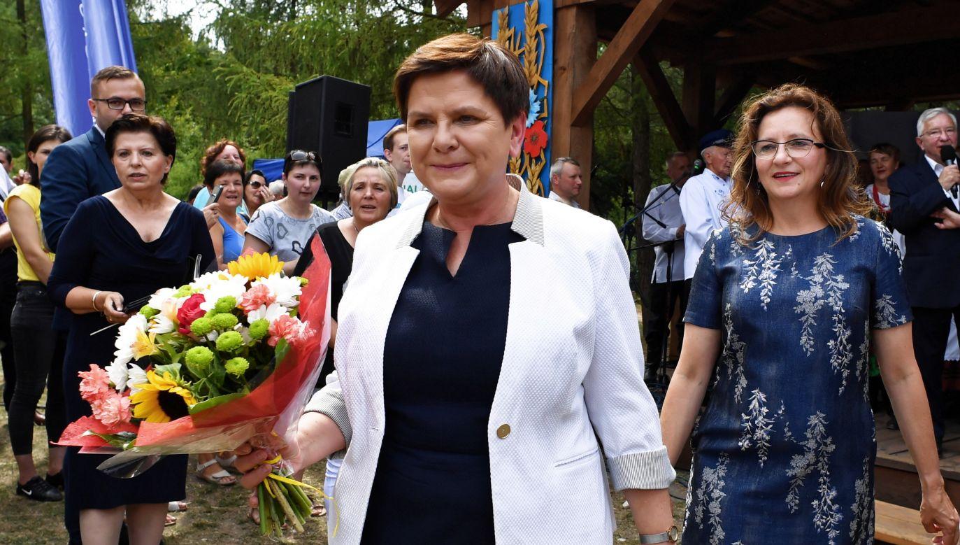 To jest dopiero pierwszy krok, trzeba kontynuować zmiany, które pozwolą na to, że Polska będzie coraz szybciej się rozwijała – wskazywała wiceprezes PiS (fot. PAP/Piotr Polak)
