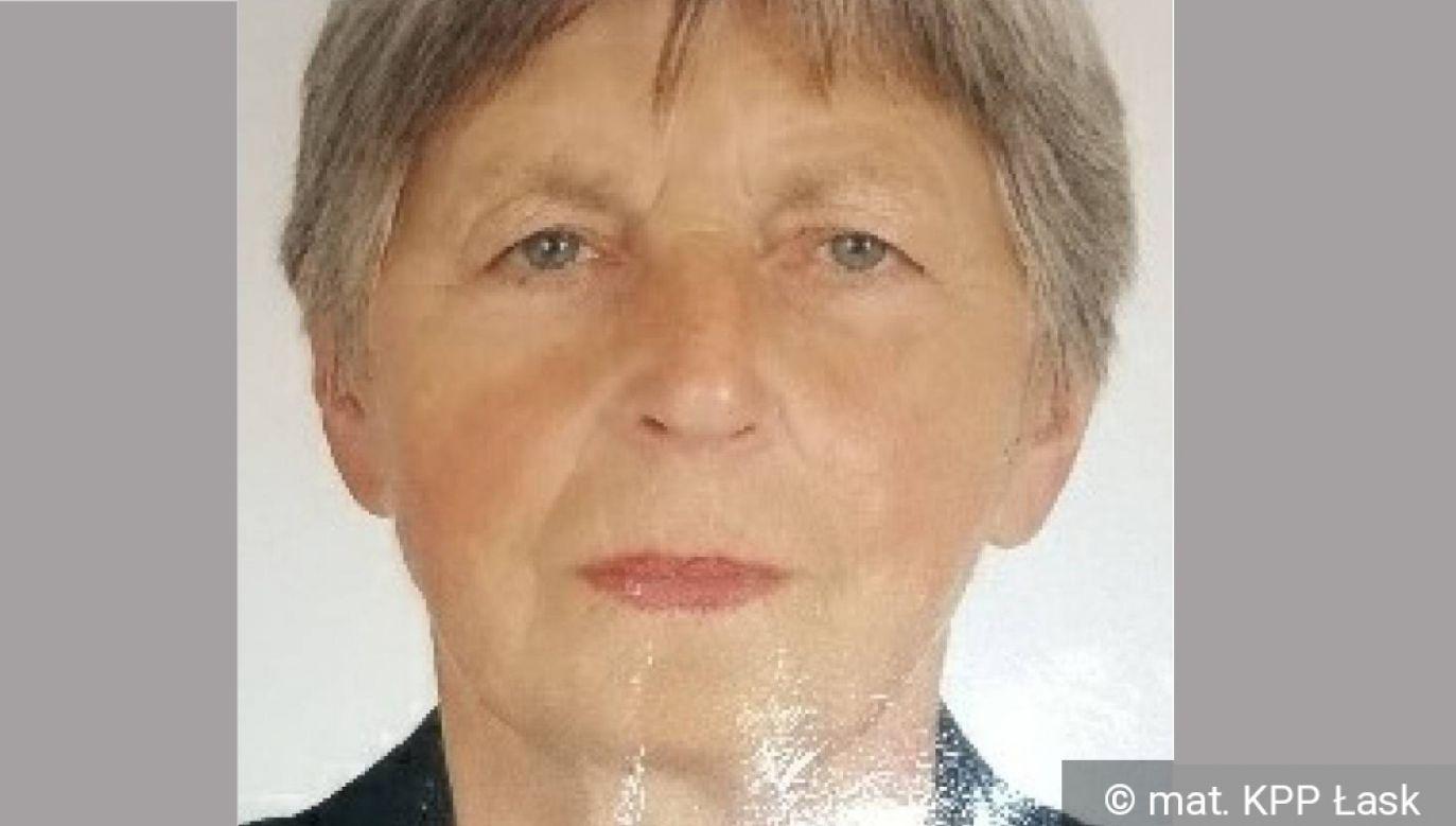 73-letnia Danuta Kazimierczak zaginęła 3 października 2019 r. (fot. mat. prasowe KPP w Łasku)