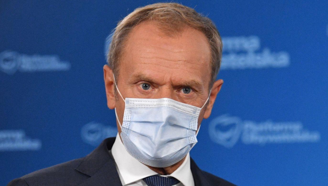 Przewodniczący Platformy Obywatelskiej Donald Tusk (fot. PAP/Radek Pietruszka)