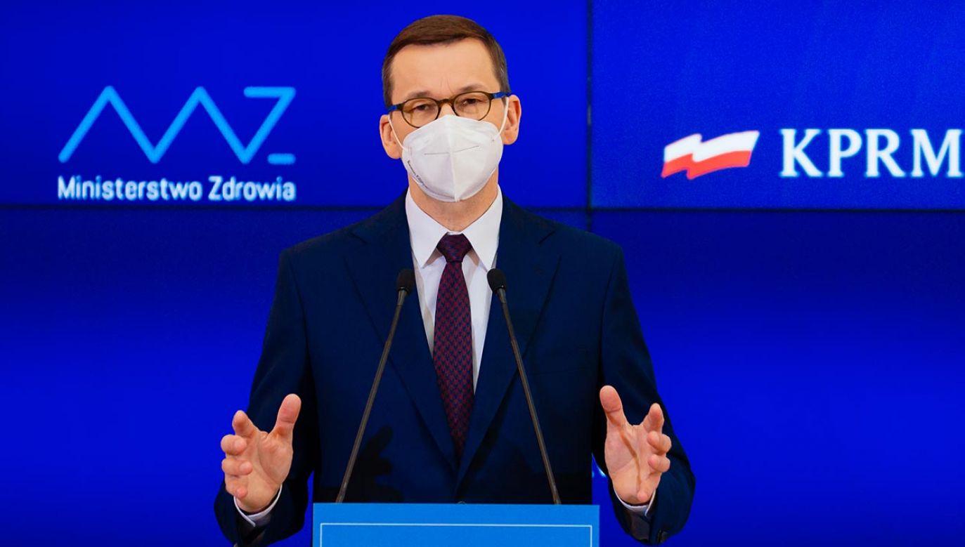 """""""Zdrowie Polaków jest najwyższym priorytetem rządu"""" (fot. Krystian Maj/KPRM)"""