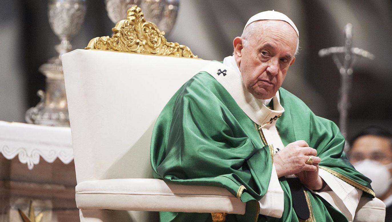 Papież Franciszek (fot.  Vatican Pool Galazka/Mondadori Portfolio via Getty Images)