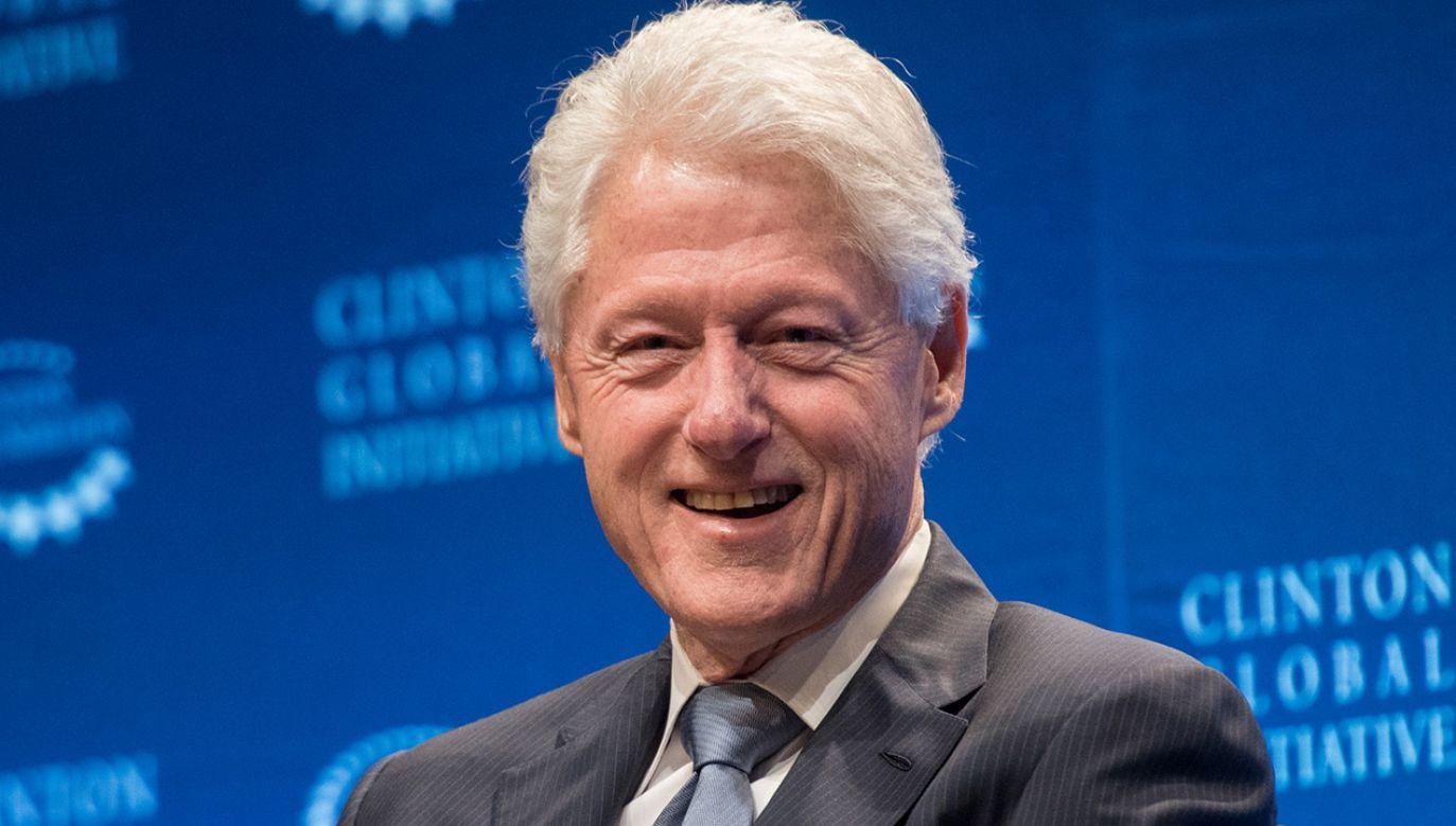 Były prezydent USA Bill Clinton (fot. Noam Galai/Getty Images)