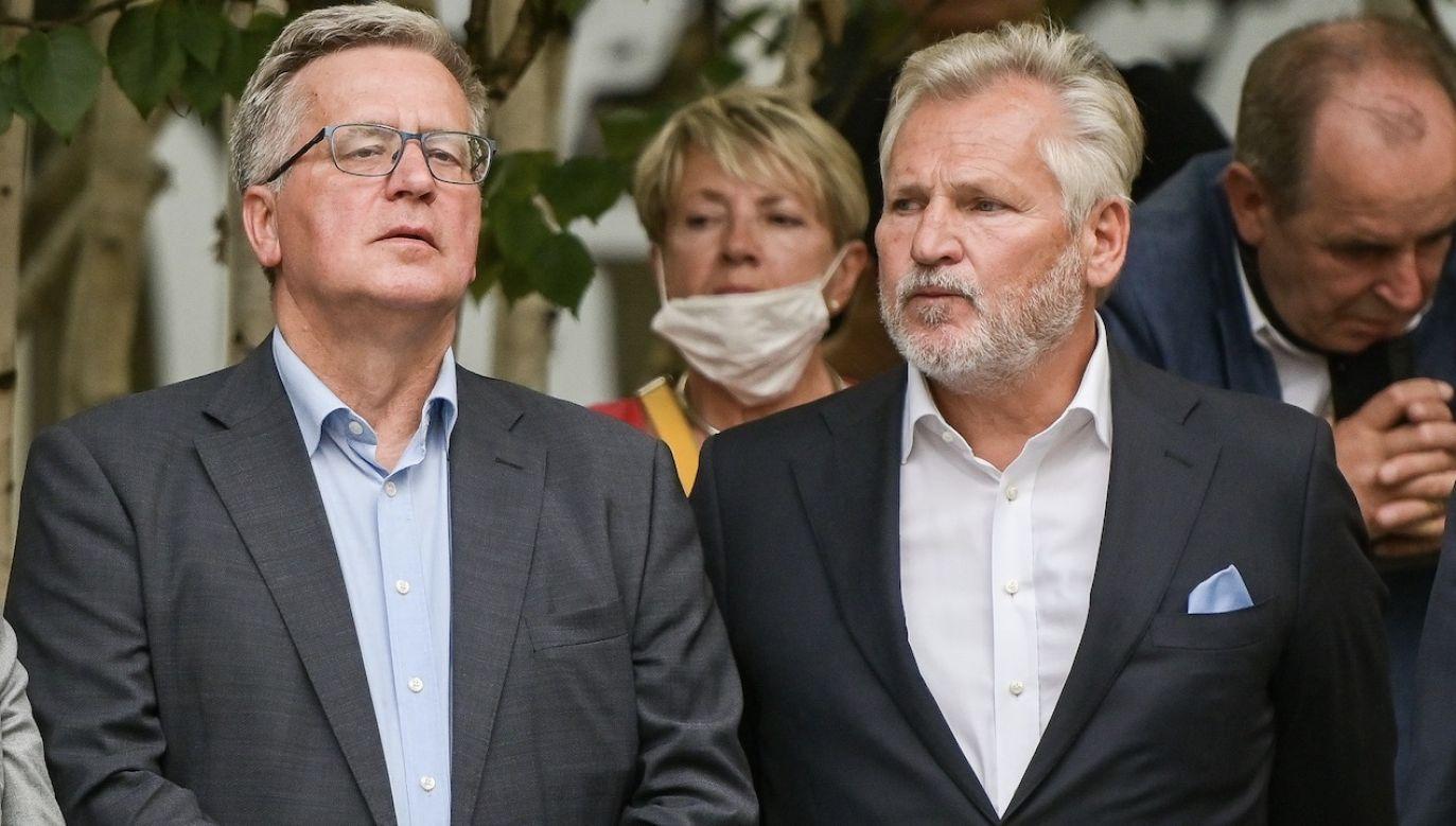 Komorowski i Kwaśniewski są wyrazicielami interesów grup, które przez blisko 30 lat wykorzystywały Polskę – mówi Artur Wróblewski (fot. Mateusz Slodkowski/SOPA Images/LightRocket via Getty Images)