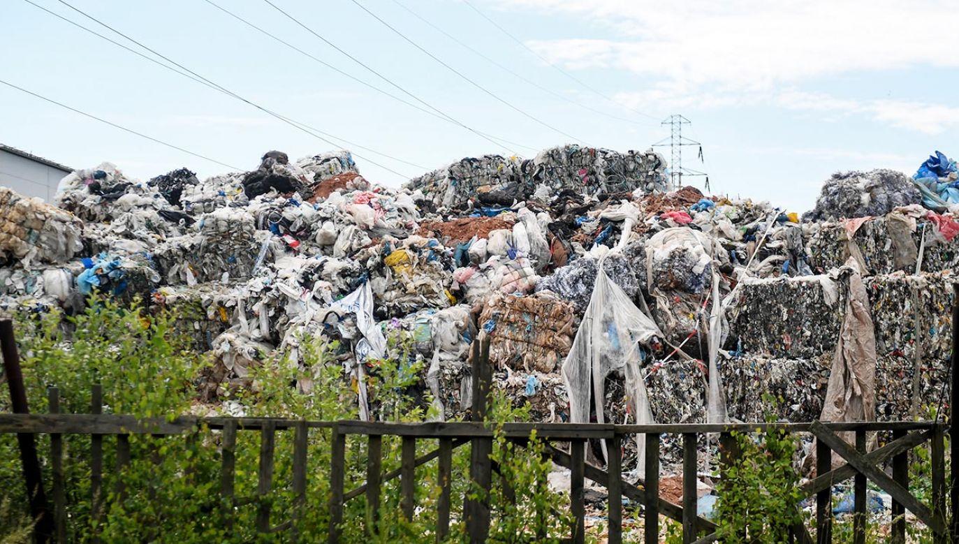 Ozdoba na temat nielegalnego importu odpadów (fot. PAP/Grzegorz Michałowski)