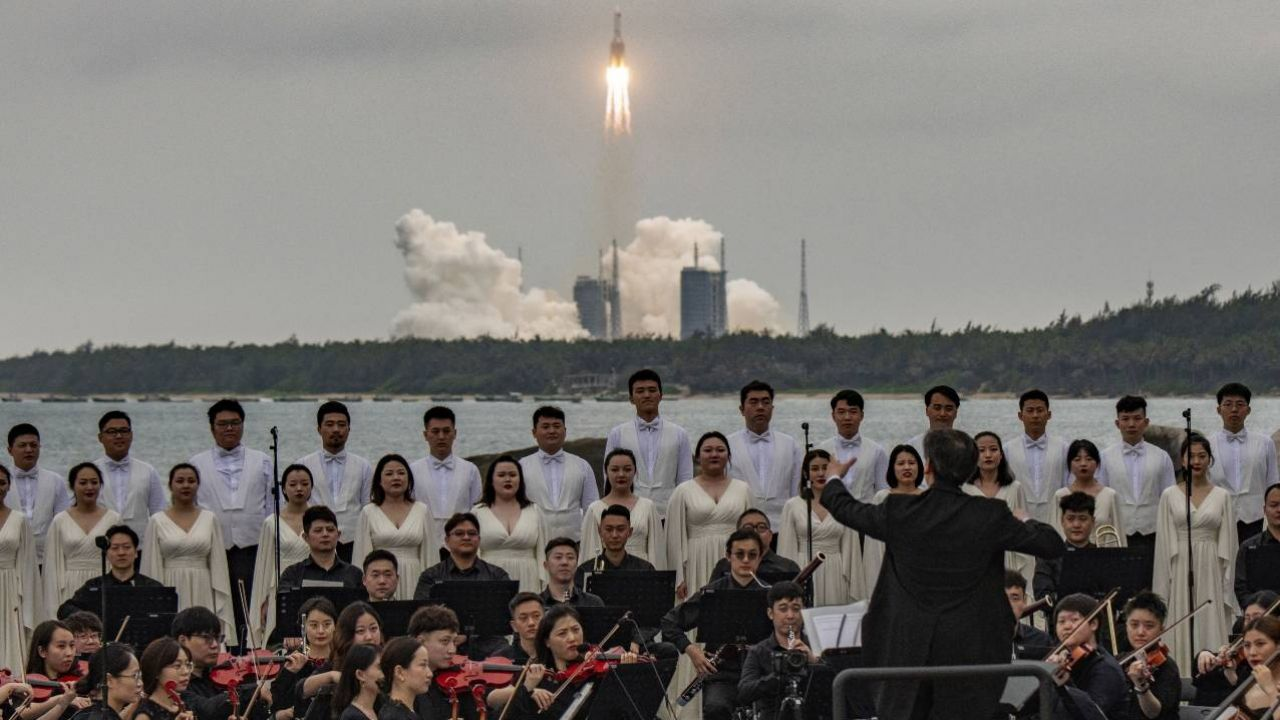 Chiny budują własną stację kosmiczną Tiangong (fot. PAP/EPA/MATJAZ TANCIC)