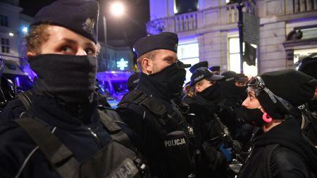 KSP: odpowiada w sprawie protestu na pl. Powstańców Warszawy (fot. PAP)