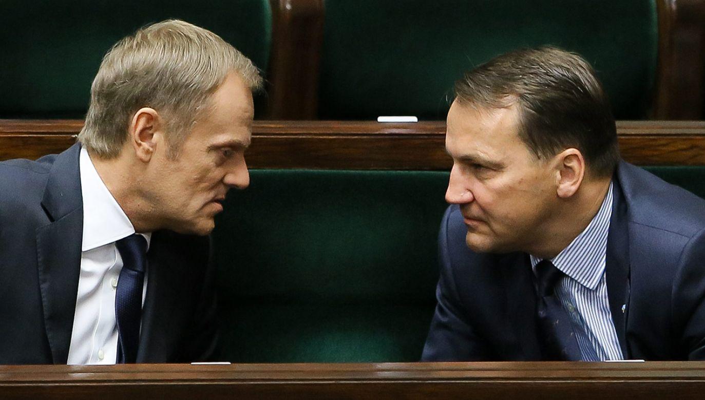 Według Sikorskiego zgłaszają się już kandydaci na stanowisko szefa PO (fot. arch. PAP/Paweł Supernak)