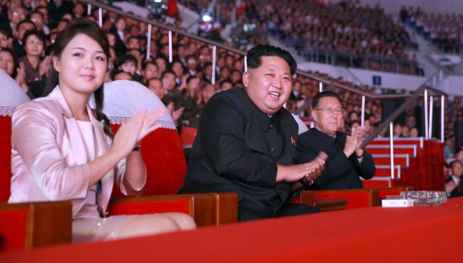 Przypuszczalnie Kimowie mają już trójkę dzieci (fot. Reuters/KCNA)