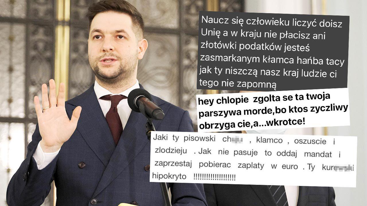 Patryk Jaki otrzymuje hejterskie wiadomości po materiale opublikowanym w TVN (fot. PAP/Mateusz Marek)