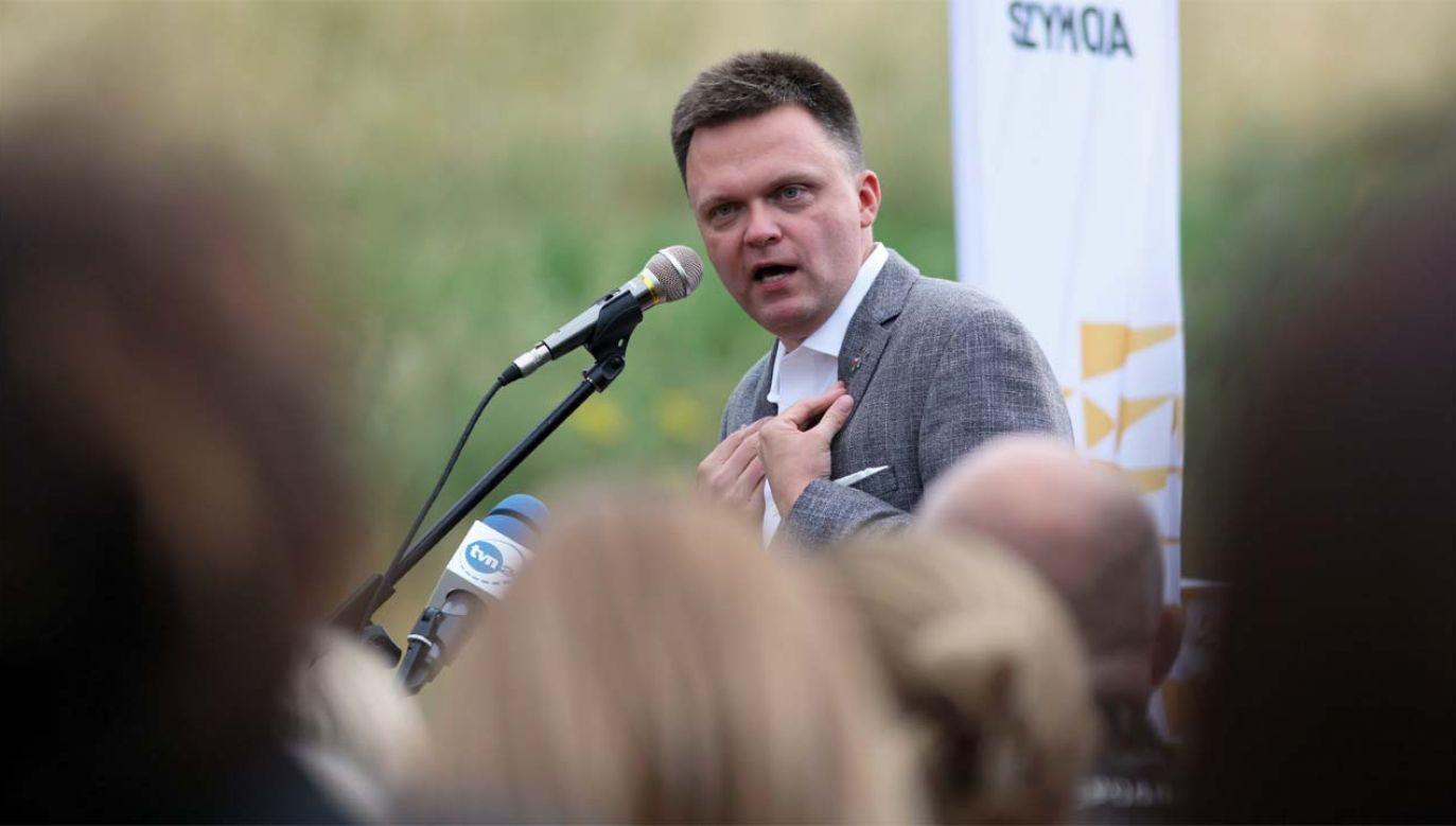 Szymon Hołownia uzyskał trzeci wynik w pierwszej turze wyborów (fot. PAP/Lech Muszyński)