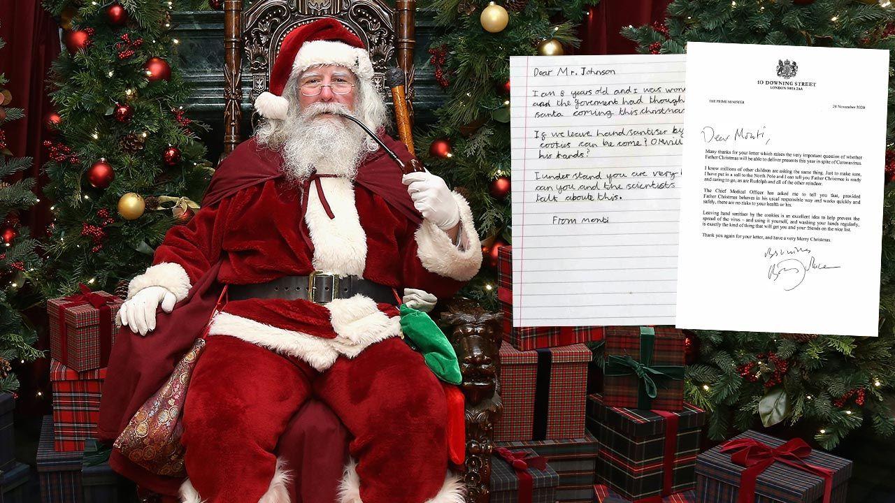 Św. Mikołaj będzie mógł przyjechać do brytyjskich dzieci (fot. Bennett Raglin/Getty Images for Brooks Brothers; Twitter/Boris Johnson)
