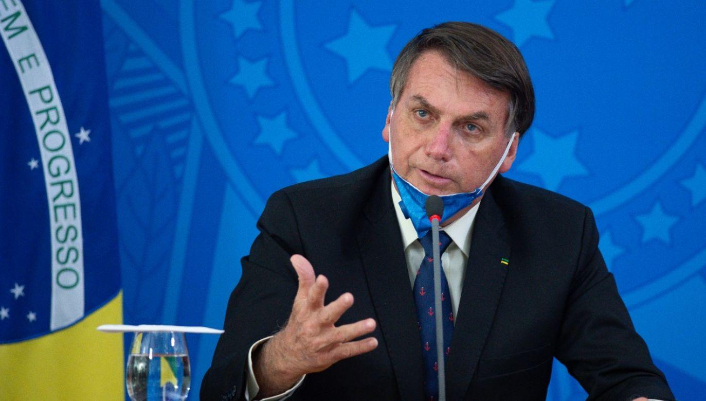 Prezydent Brazylii Jair Bolsonaro zapowiedział uruchomienie programu pomocy federalnej (fot. Andressa Anholete/Getty Images)