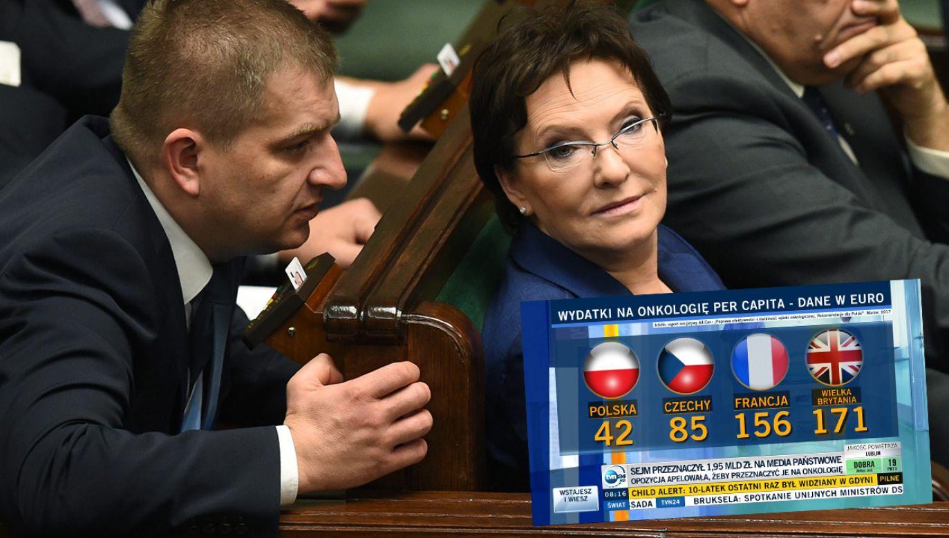 TVN24 powiela zmanipulowany przekaz  polityków opozycji (fot. arch. PAP/Jacek Turczyk; TVN24)