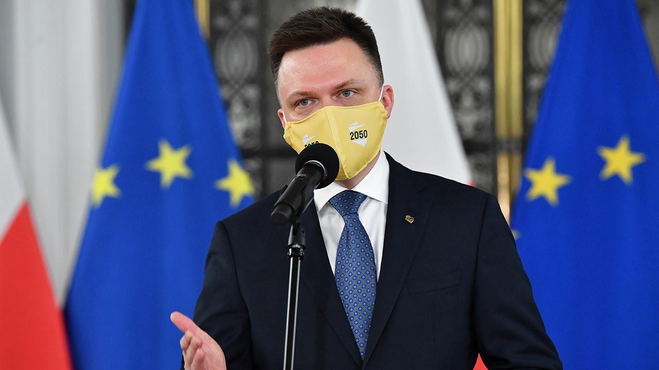 Szymon Hołownia szedł do polityki po to, żeby ją zmieniać – uważa Rafał  Trzaskowski (fot. PAP/Radek Pietruszka)