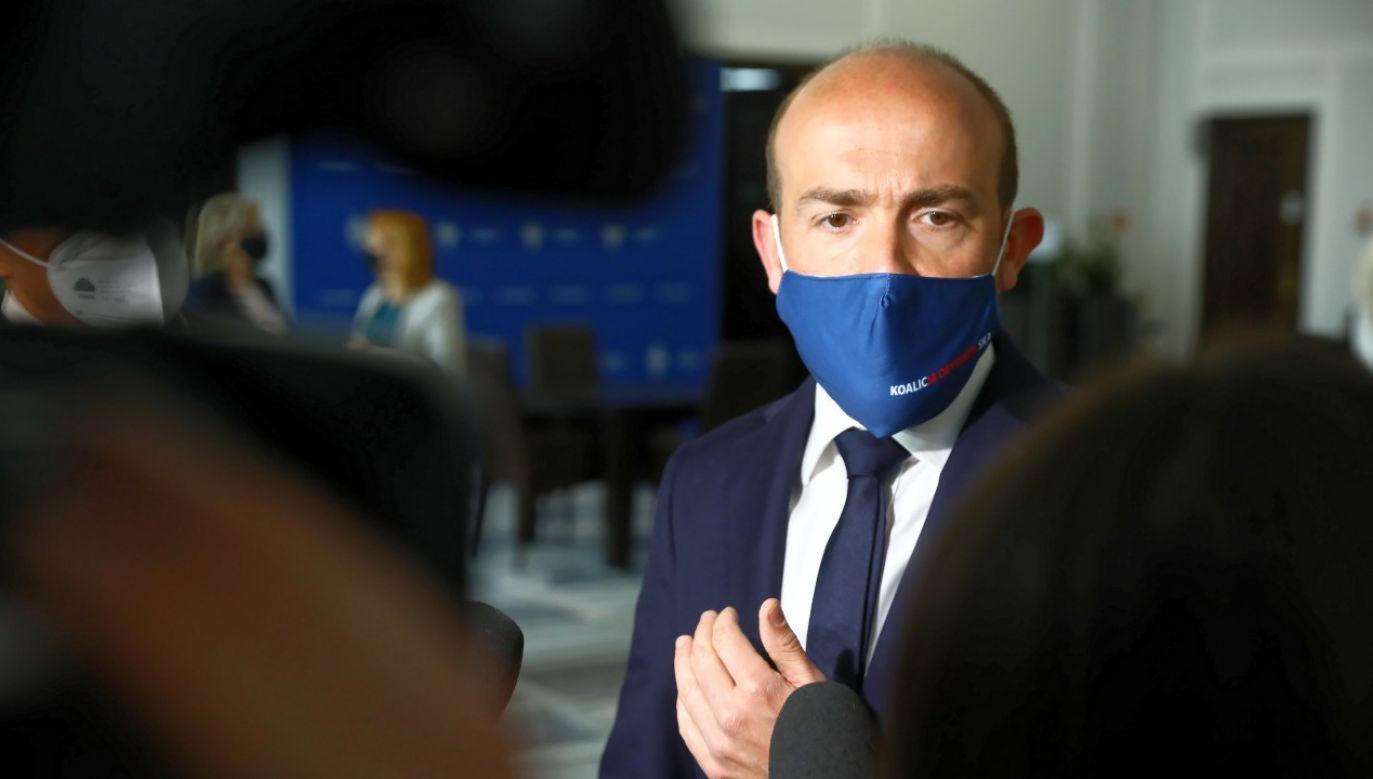 Lider PO Borys Budka ma problemy wewnątrz partii (fot. PAP/Rafał Guz)