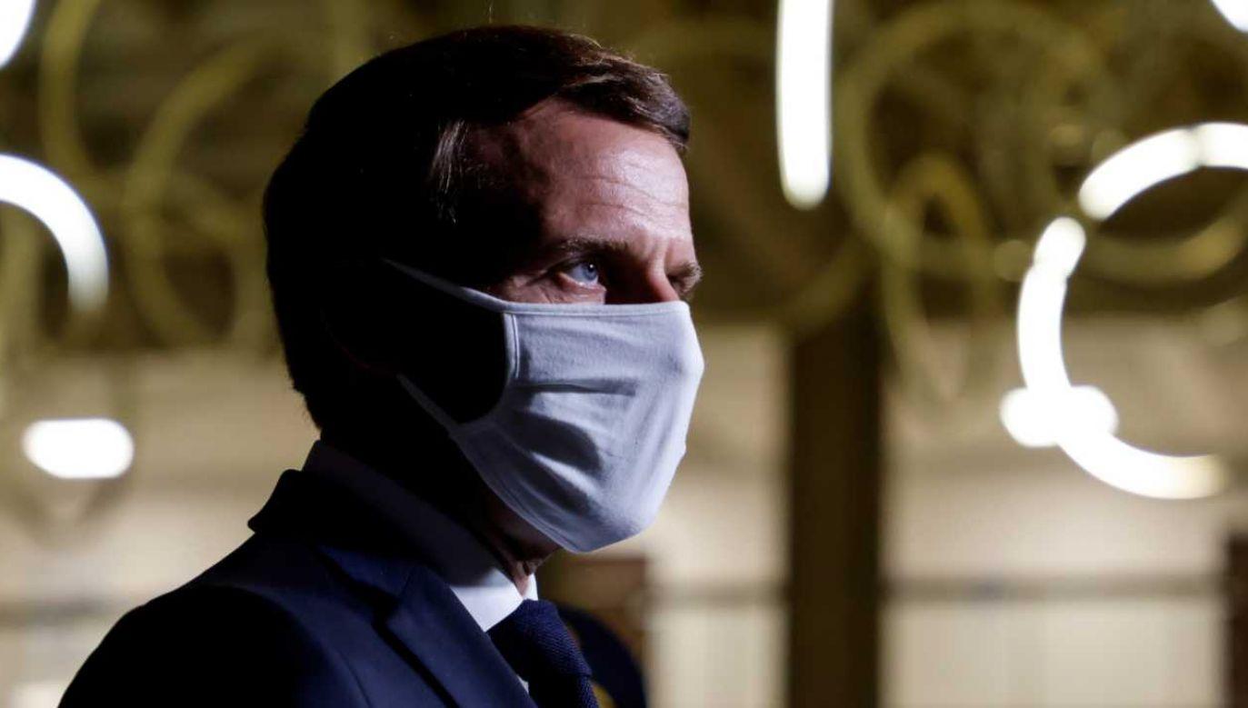 Turecki prezydent powiedział, że prezydent Francji potrzebuje leczenia psychiatrycznego wz. ze swoim stosunkiem do muzułmanów (fot. PAP/EPA/LUDOVIC MARIN / POOL)