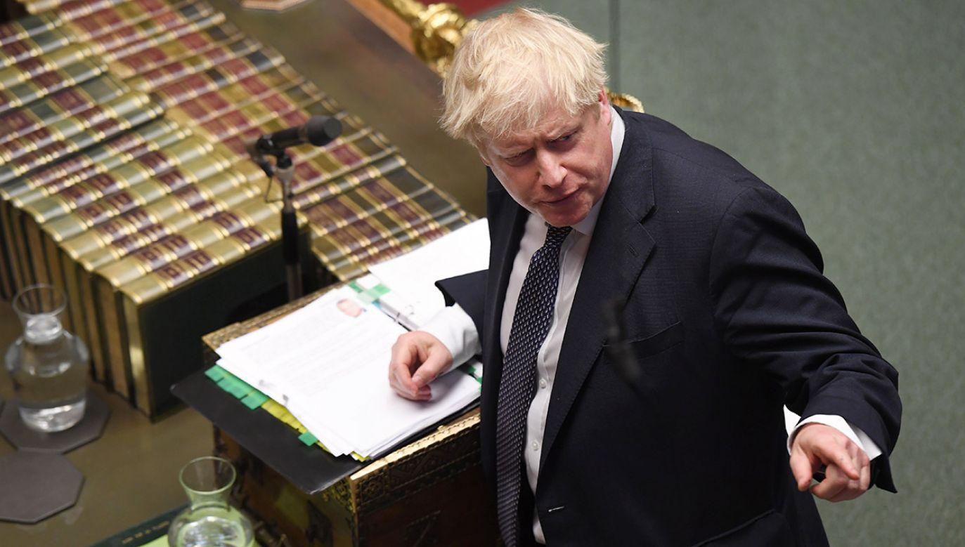 Boris Johnson  jest pewien przeforsowania umowy z Unią Europejską przez parlament przed 31 października (fot. PAP/EPA/JESSICA TAYLOR / UK PARLIAMENT)