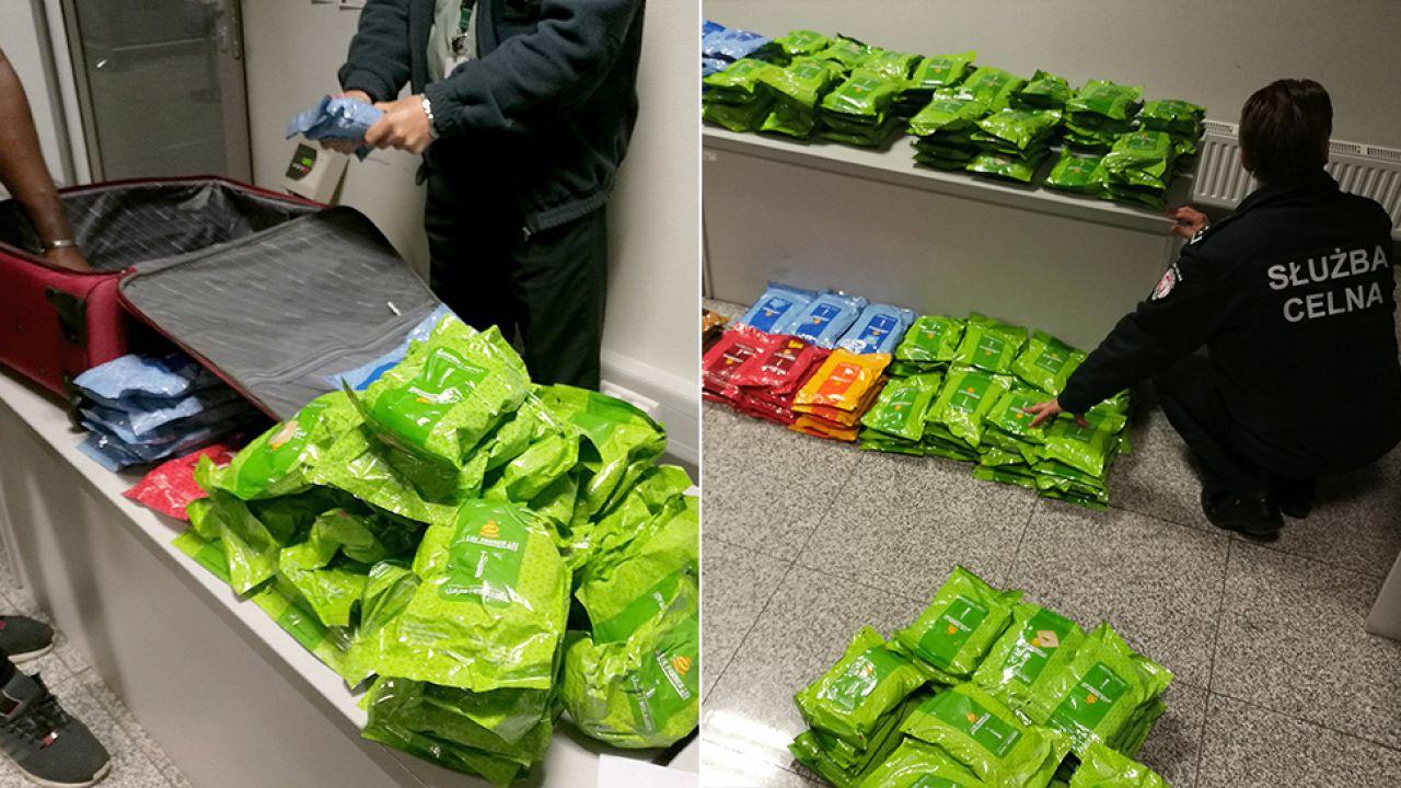 Tytoń zapachowy miał lecieć do Francji (fot. Izba Administracji Skarbowej w Katowicach)
