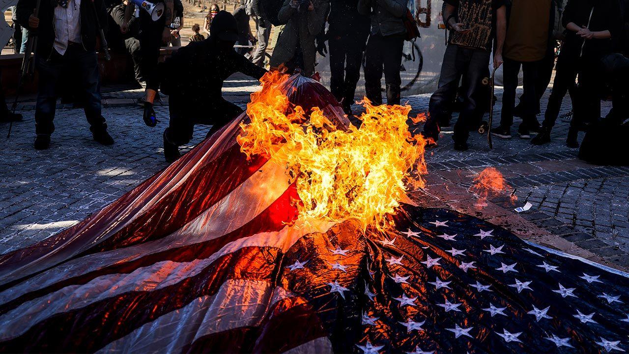 Podobna manifestacja odbyła się w Portland (fot. Michael Ciaglo/Getty Images)