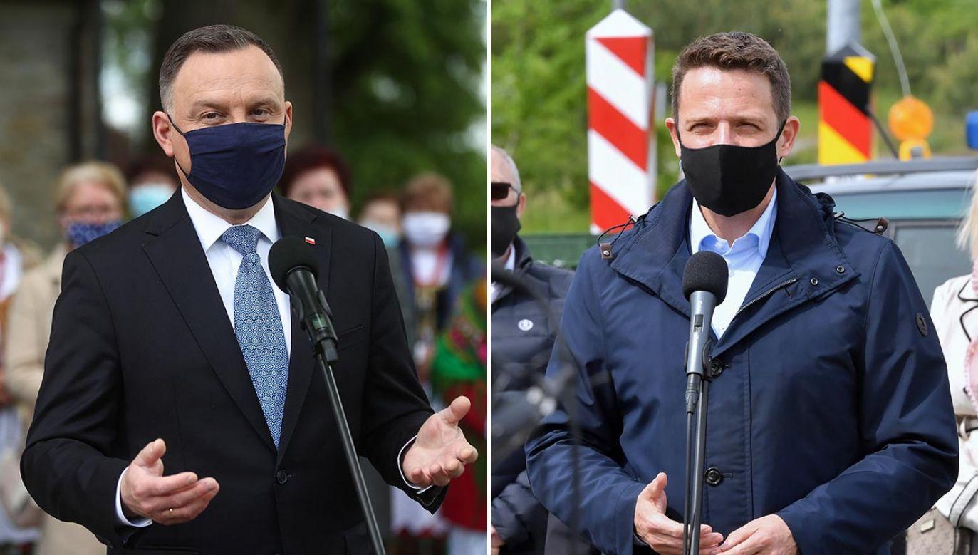 Wyścig o fotel prezydencki trwa (fot. PAP/Łukasz Gągulski, Marcin Bielecki)