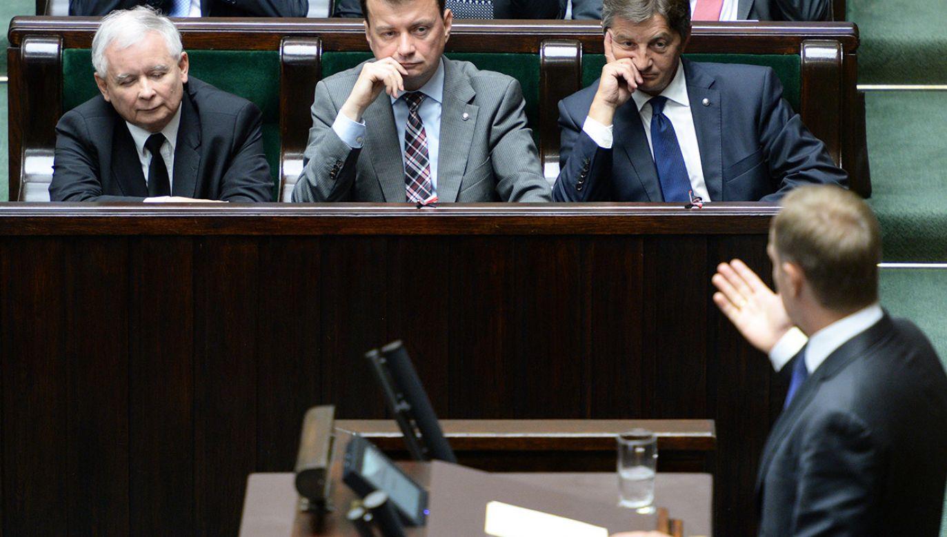 Donald Tusk w Sejmie (fot. arch.PAP/Jacek Turczyk)