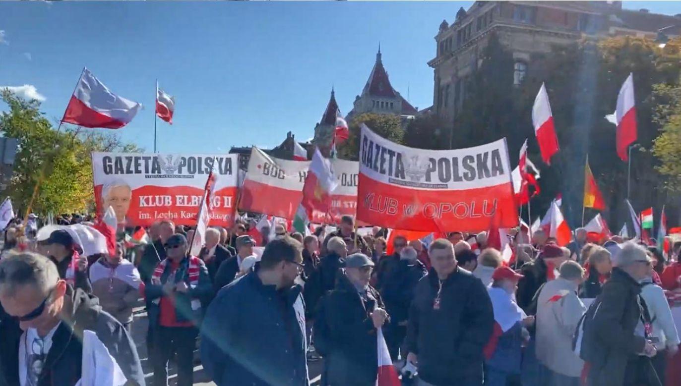 Marsz Pokoju w Budapeszcie ma długą tradycję (fot. YouTube/Aleksander Mimier)