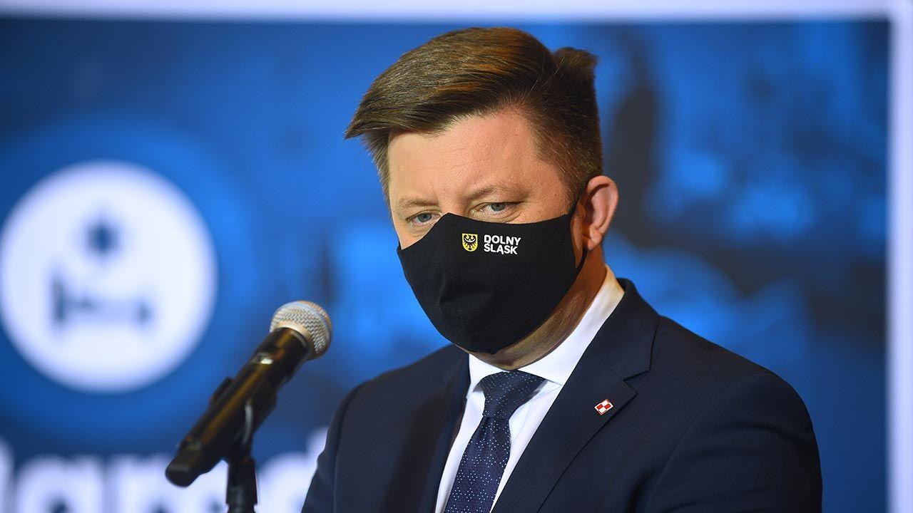 Szef KPRM Michał Dworczyk (fot. Forum/Adam Chelstowski)