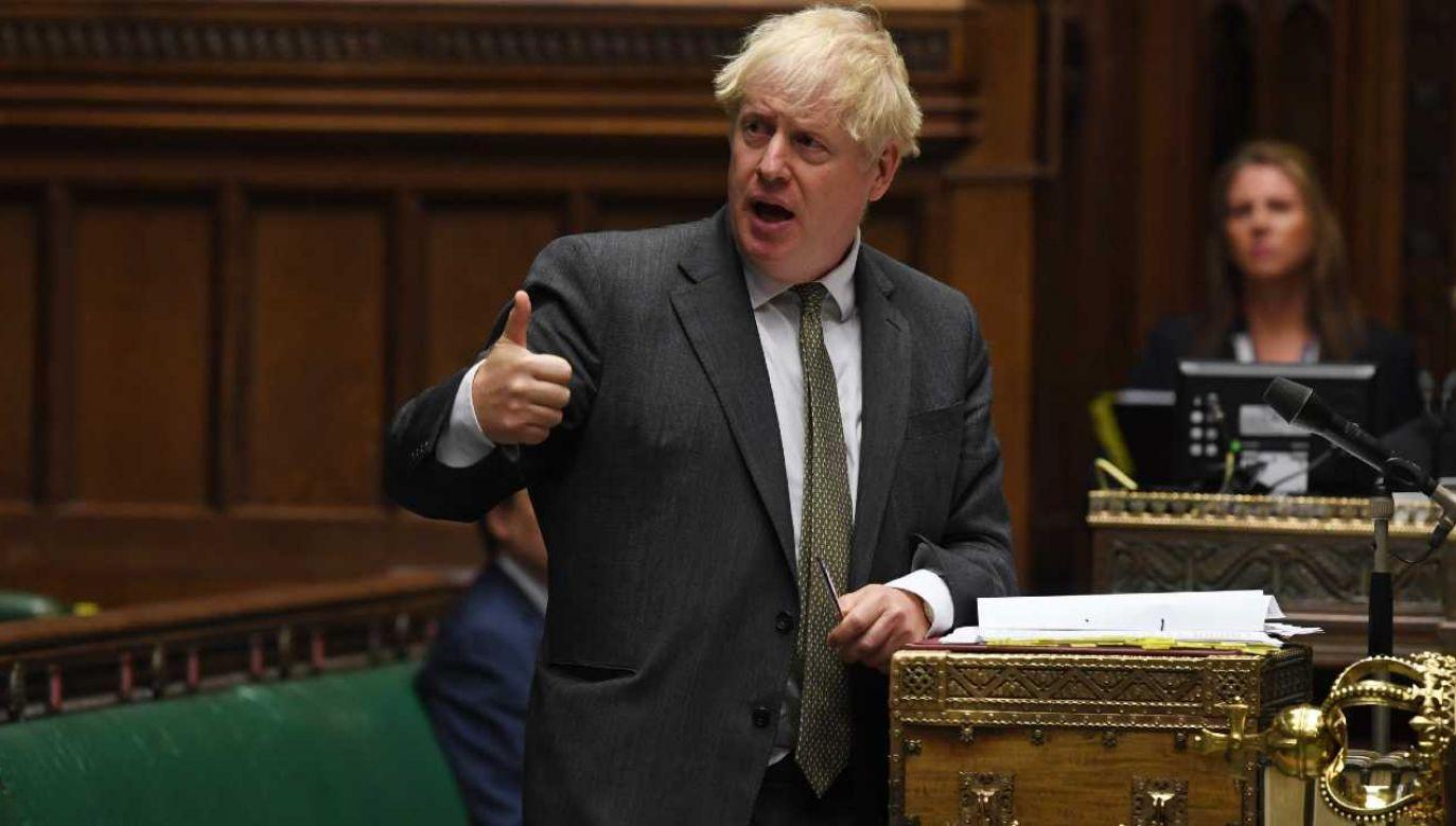 Brytyjski premier Boris Johnson (fot. PAP/EPA/JESSICA TAYLOR / UK PARLIAMENT HANDOUT)