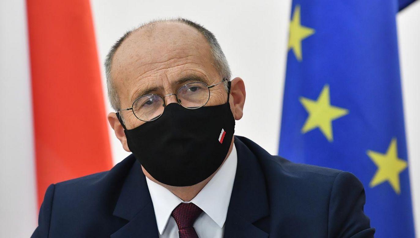 Minister spraw zagranicznych Zbigniew Rau (fot. PAP/Radek Pietruszka)