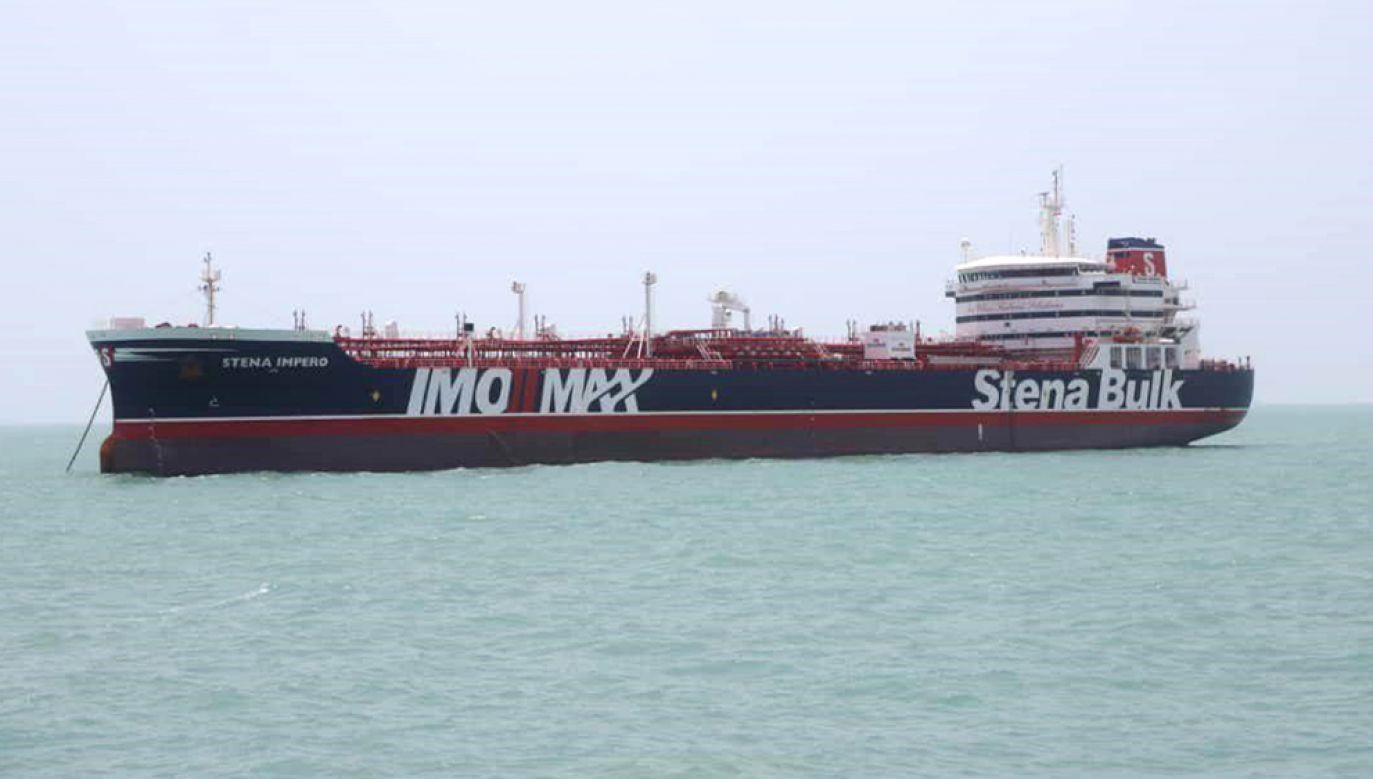 """Pływajacy pod brytyjską banderą tankowiec """"Stena Impreo"""" został zatrzymany przez Iran (fot. Contributor/Getty Images)"""