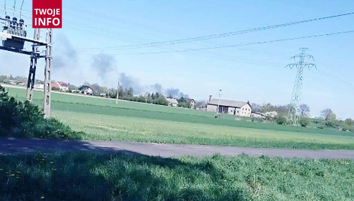 Pożar w Grudziądzu (fot.Twoje Info)