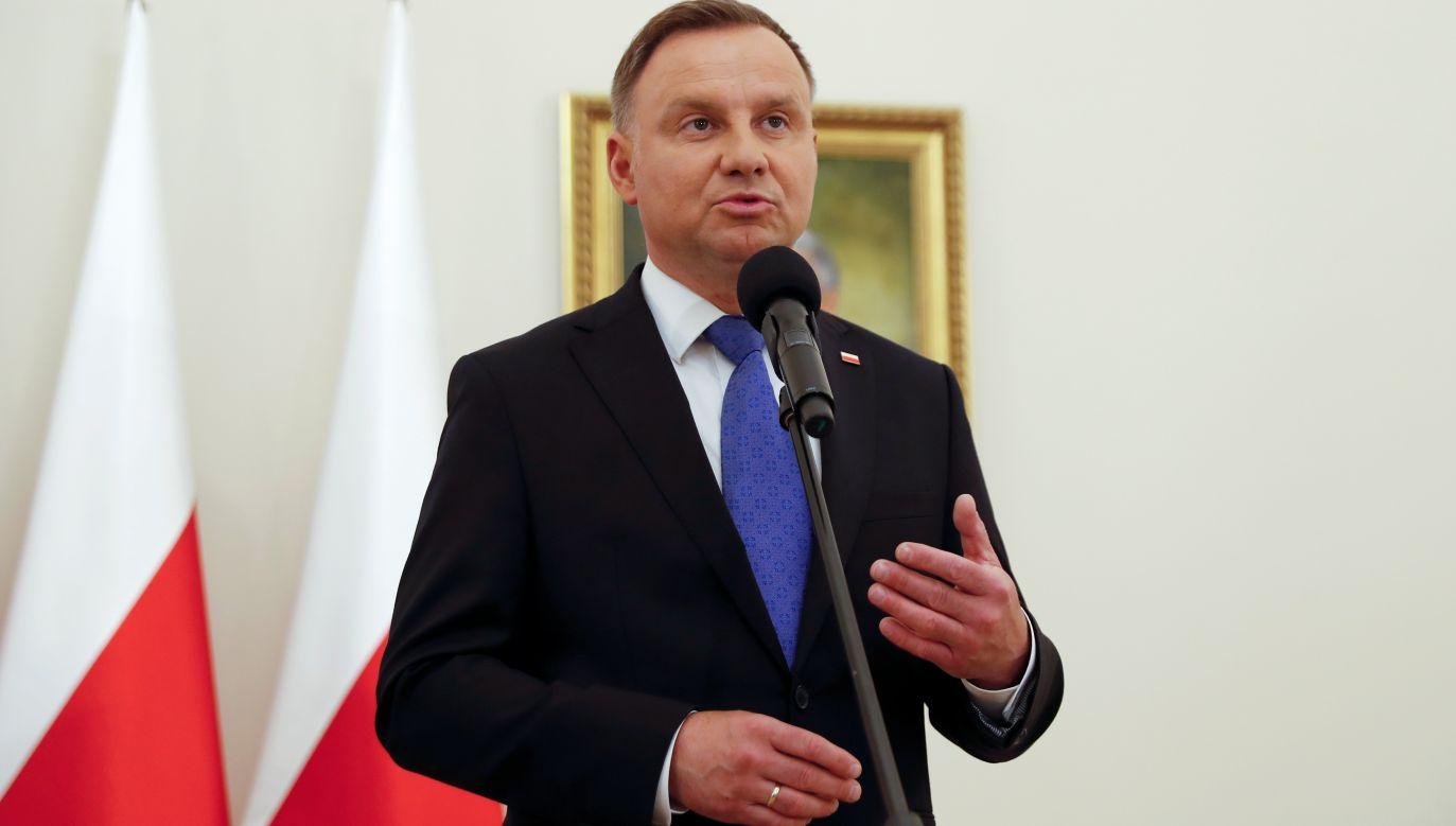 Prezydent RP Andrzej Duda (fot. REUTERS / Aleksandra Szmigiel )