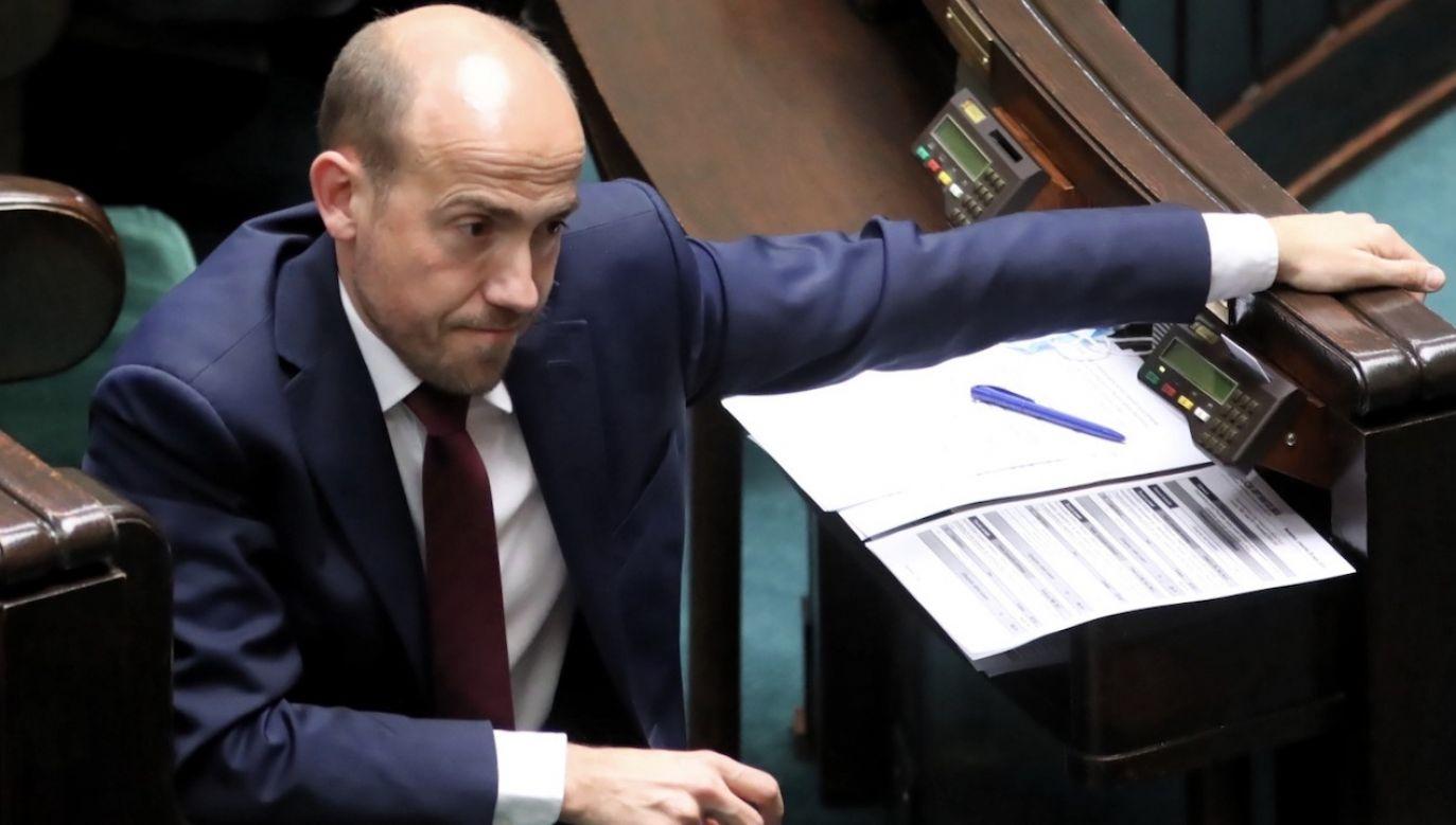 Borys Budka twierdzi, że poprawka nie była przedmiotem uzgodnień (fot. PAP/Leszek Szymański)