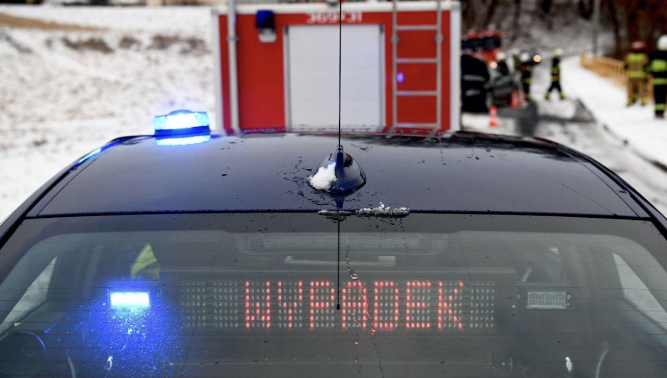 Śmiertelny wypadek w ok. Jasła (fot. PAP/D.Delmanowicz, zdjęcie ilustracyjne)