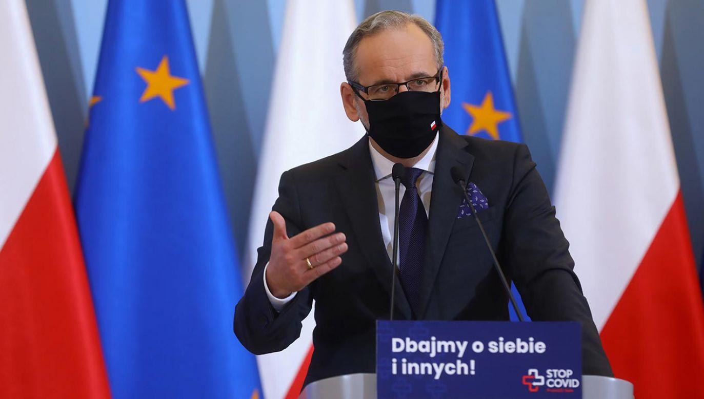 Minister zdrowia Adam Niedzielski (fot. PAP/Rafał Guz)